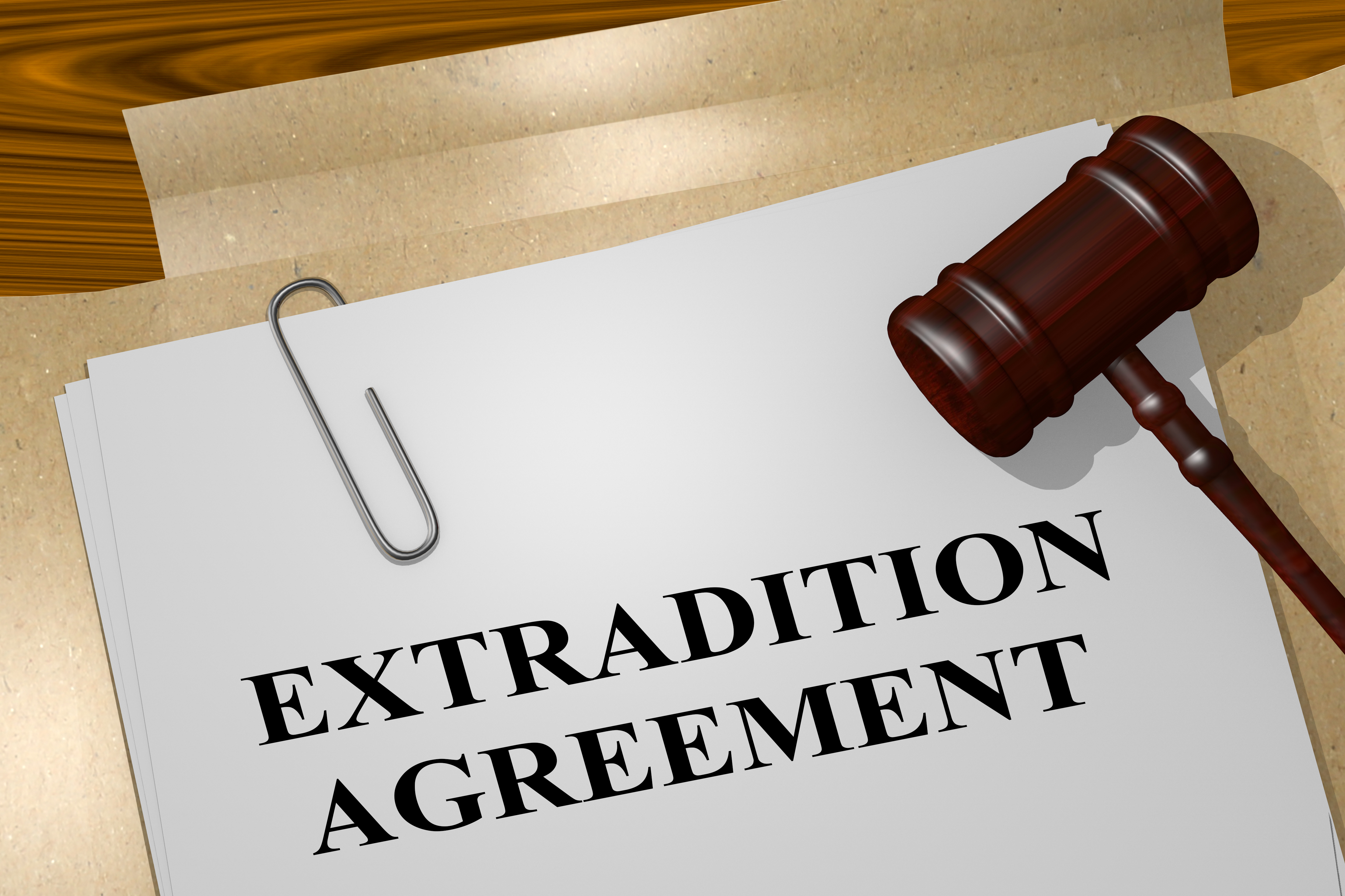 Gavel, Extradition Agreement, Legal Paperwork