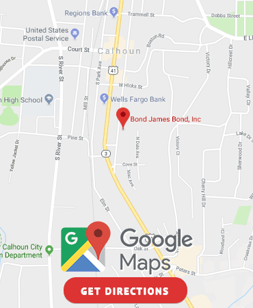 Get Directions to our Calhoun, GA Bail Bonds location